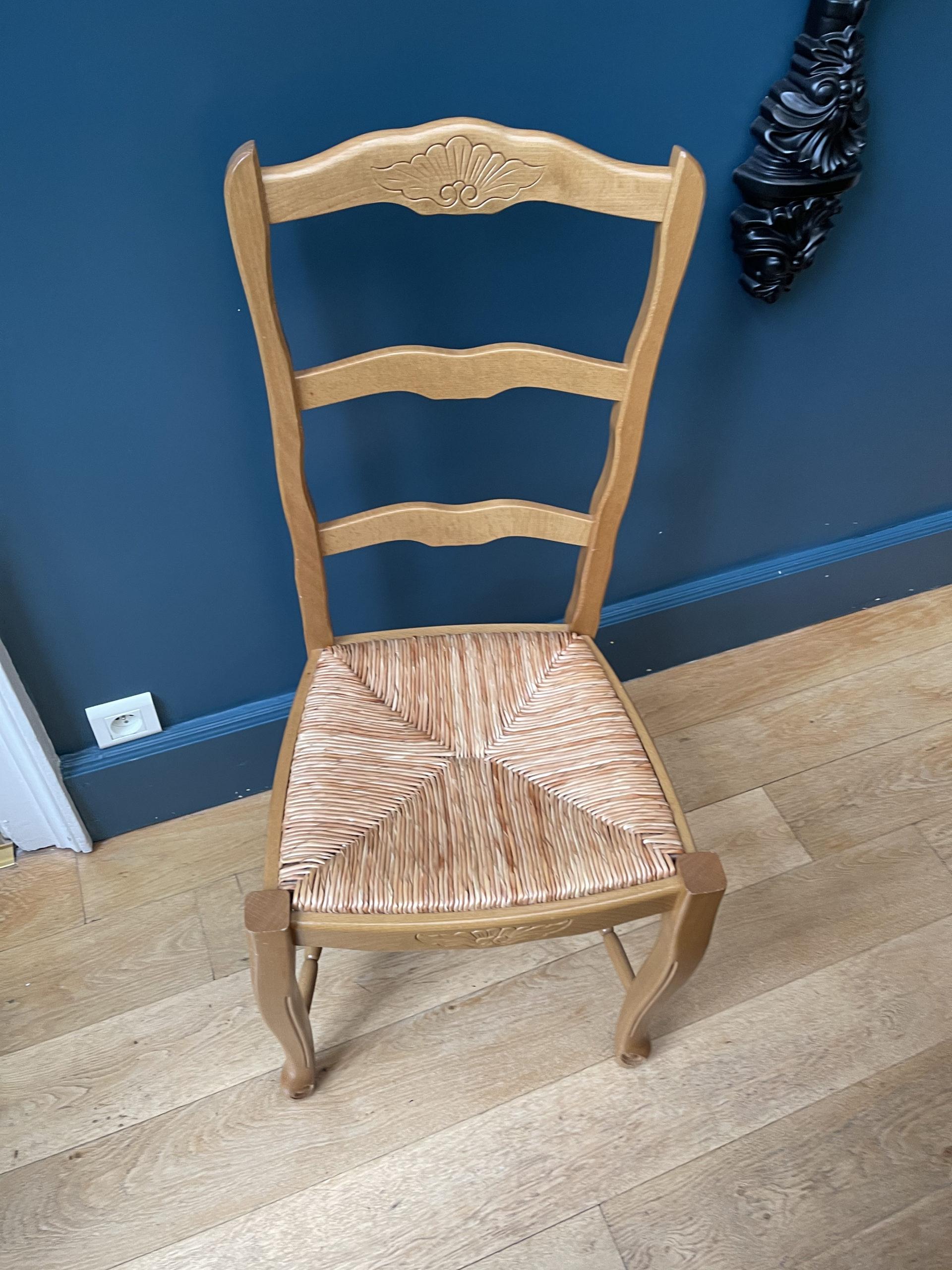 chaises en paille rénové Elahe Deco haut de France lille