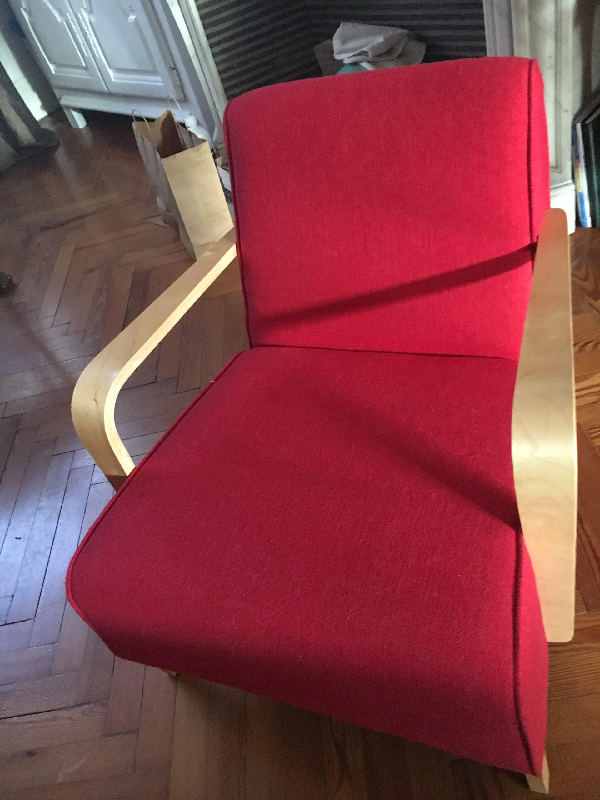 réfection d'un fauteuil style scandinave decoration Elahe Deco Lille Haut de France