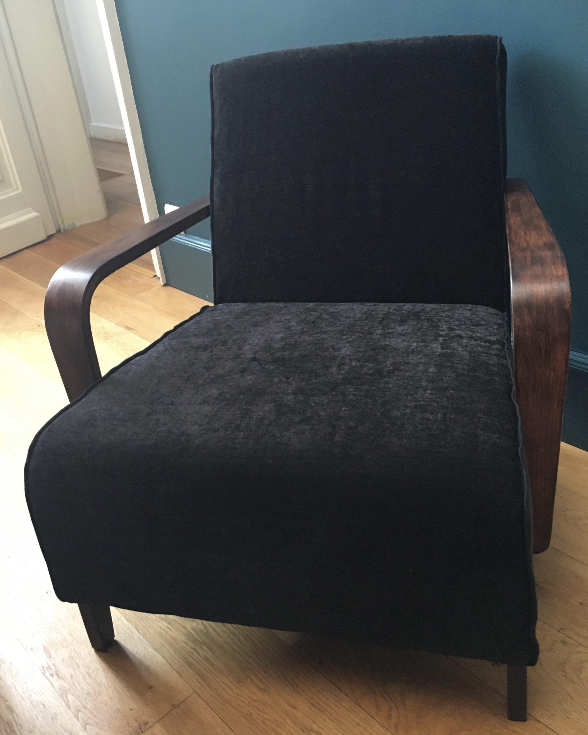 réfection d'une fauteuil style scandinave decoration Elahe Deco Lille Haut de France