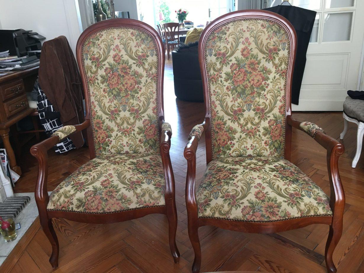fauteuil voltaire restauré par Elahe Deco Lille Haut de France
