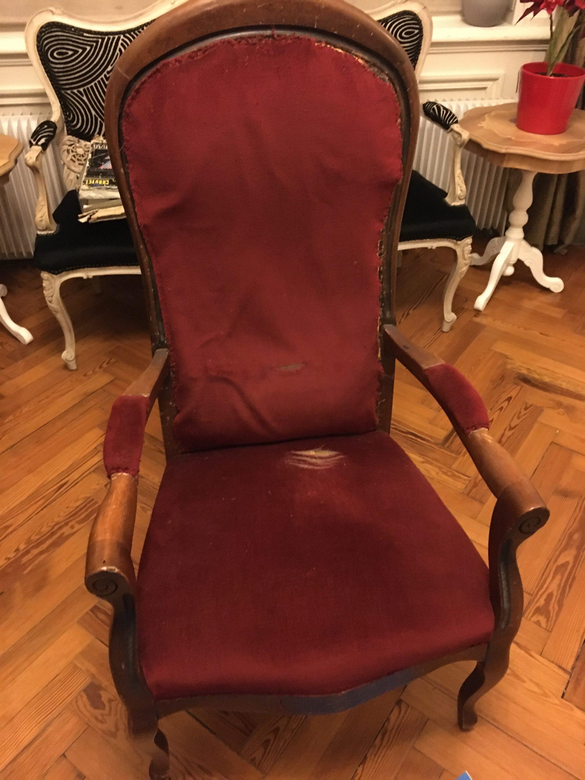fauteuil voltaire réfection restauration Elahe Deco lille haut de France