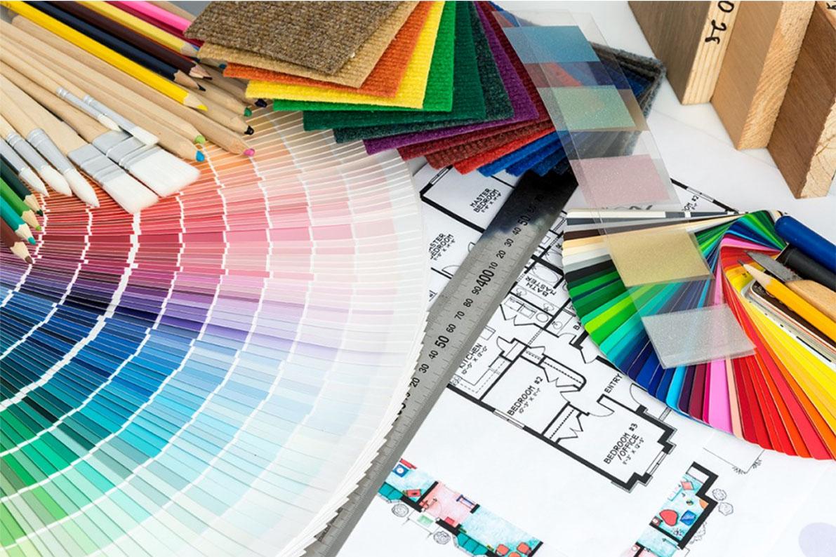 visites de conseil pour le choix des matières en harmonie avec des couleurs et ambiance