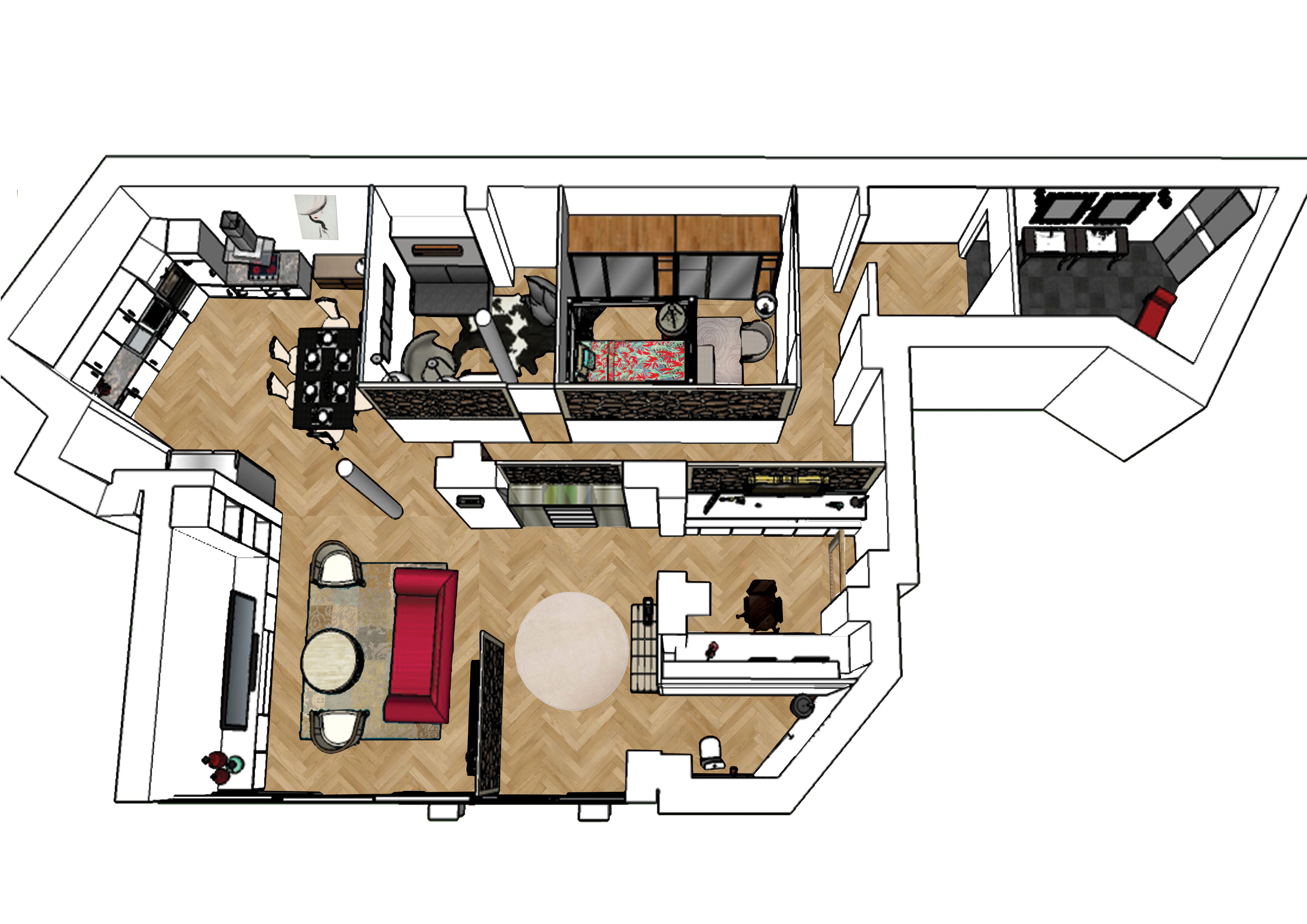 plan 3D agencement