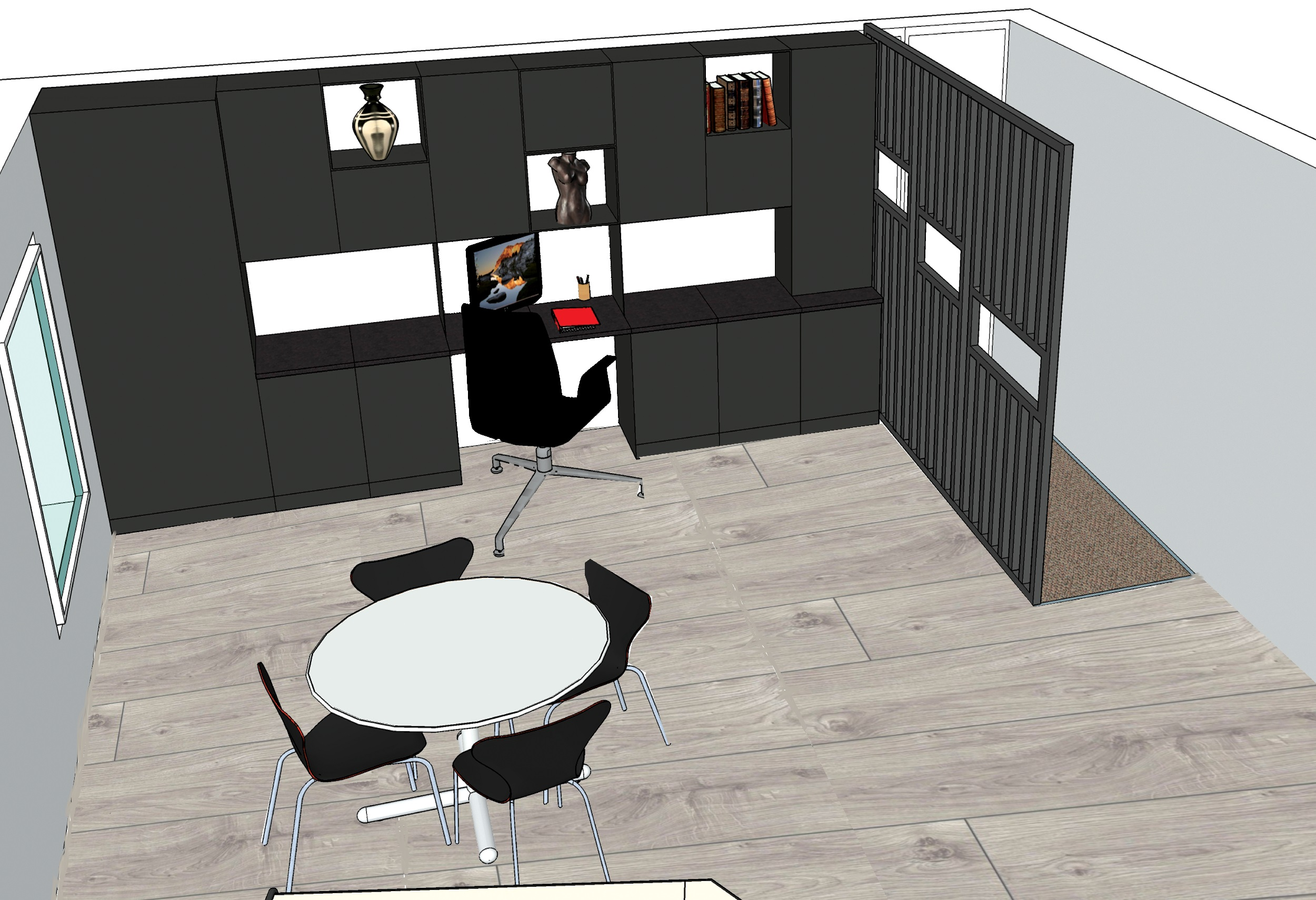 Mur de rangement pour open-space - Elahé Déco